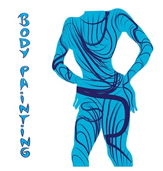 body painting silhouette vector image vector image
