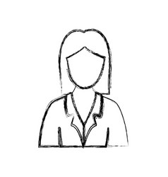 contour people formal woman icon vector image