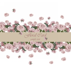 Roses Vintage Invitation card vector image vector image