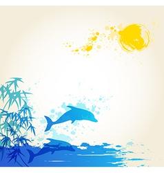 Sea blue vector