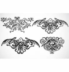 snake ornaments vector image
