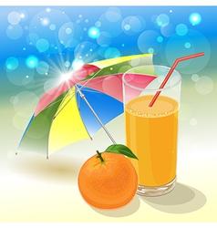 solar orange vector image vector image