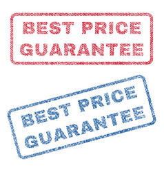 best price guarantee textile stamps vector image vector image