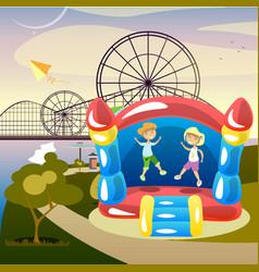 Children summer activities vector