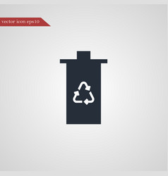 eco trash icon simple vector image