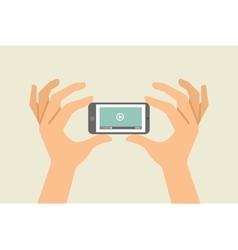 Flat design concept online video vector image
