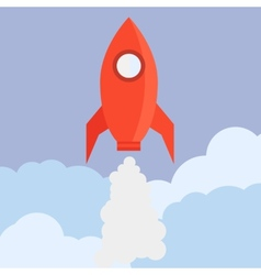 Rocket in Flat Style vector image vector image