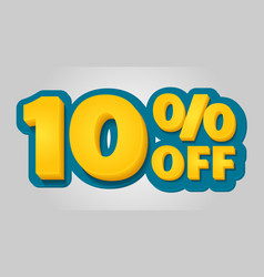 10 off discount banner special offer sale tag in vector image