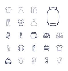 22 apparel icons vector