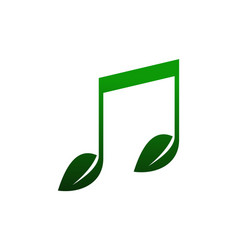 abstract nature music note logo icon vector image