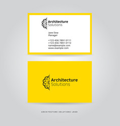 architectural logo and identity vector image vector image