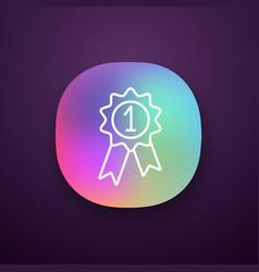 award medal app icon vector image