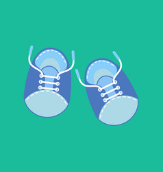 baby boy shoes vector image