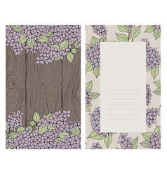 background with lilac and wooden texture vector image