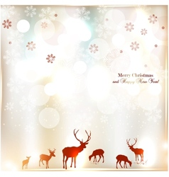 Beautiful christmas background with reindeer vector