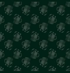 beer bar print seamless pattern with mug of beer vector image