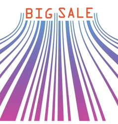 Big sale barcode banner EPS 8 vector