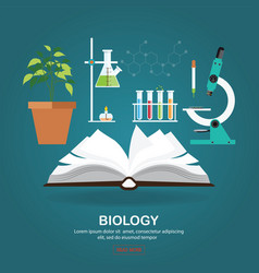 biology laboratory workspace and science vector image