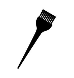 Black and white hair dye brush silhouette vector