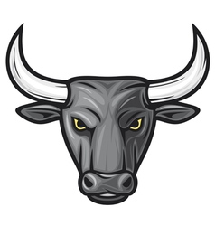 black bull head vector image