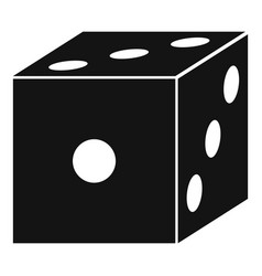 blood dice icon simple style vector image