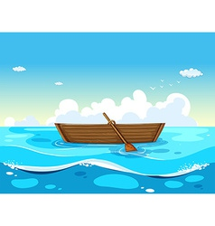 Boat and ocean vector image