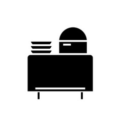 buffet in restaurant icon vector image