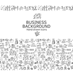 Business background doodles hand drawn black and vector