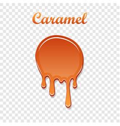 Caramel drop 3d realistic melted sauce vector