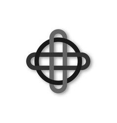 Celtic knot interlocked circles logo overlap sign vector