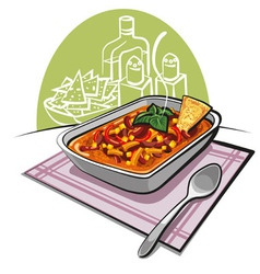 Chili con carne vector