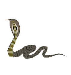 Cobra flat vector