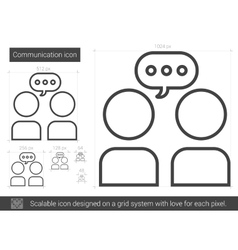 Communication line icon vector