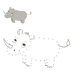 Connect dots game rhino vector