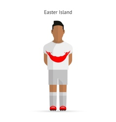 Easter Island football player Soccer uniform vector