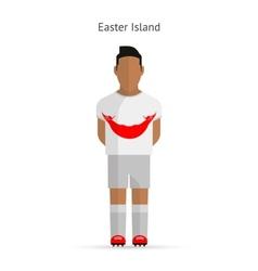 Easter island football player soccer uniform vector
