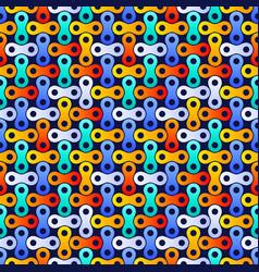 electric metaballs tech seamless pattern organic vector image