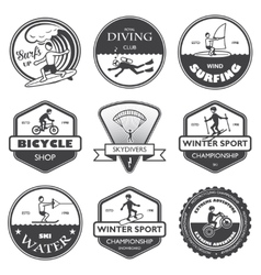 Extreme sports labels set vector