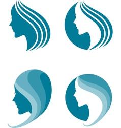 Fashion icon symbol of female beauty vector