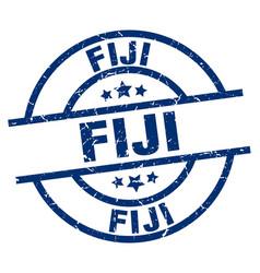 Fiji blue round grunge stamp vector