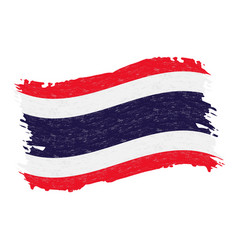 Flag of thailand grunge abstract brush stroke vector