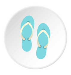 Flip flop sandals icon circle vector