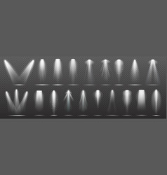 floodlight or spotlight for stage scene or podium vector image