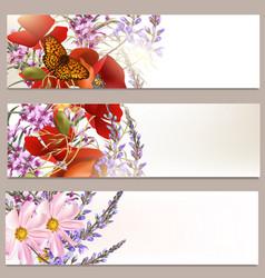 Floral brochures set vector