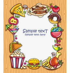 food frame vector image vector image