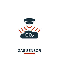 gas sensor icon from sensors icons collection vector image