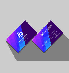 Geometric polygon colors business card template vector