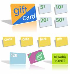 Gift credit bank cards vector