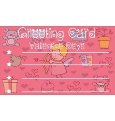 Greeting card valentine background vector
