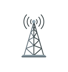 Gsm tower icon flat style vector